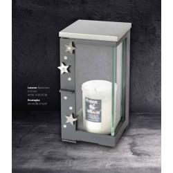 Laterne Aluminium H 23 cm